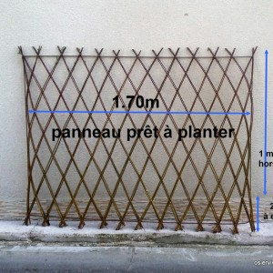 Panneau pré-tressé prêt à planter 1.70 m de long