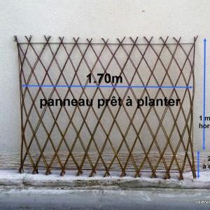 Panneau tressé prêt à planter 1.70 m de long